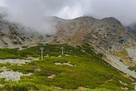 High Tatra Mountains (Vysoke Tatry) a mountain range along the border of Slovakia and Poland Banco de Imagens