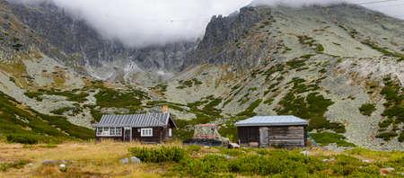 Little house on the High Tatra Mountains (Vysoke Tatry) a mountain range along the border of Slovakia and Poland