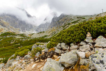 Lomnicky peak on the High Tatra Mountains (Vysoke Tatry) a mountain range along the border of Slovakia and Poland