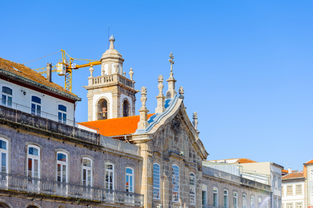Architecture of the historic part of Braga, Portugal. Editorial