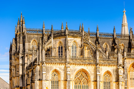 Exterior of the Monastery of Batalha (Monastery of Saint Mary of the Victory). UNESCO World Heritage Site