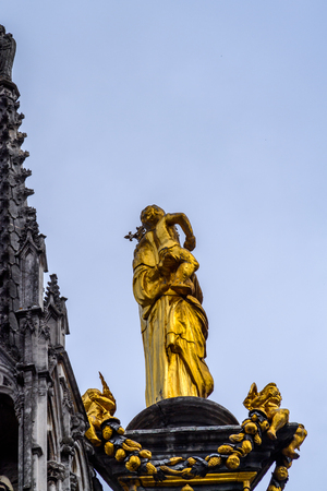 Statue in Rouen, a city on the River Seine, Normandy, France Editorial