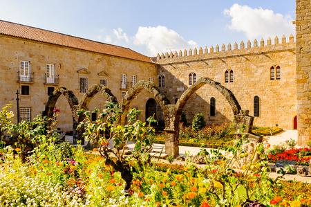Santa Barbara gardens of Braga, Portugal. Editorial
