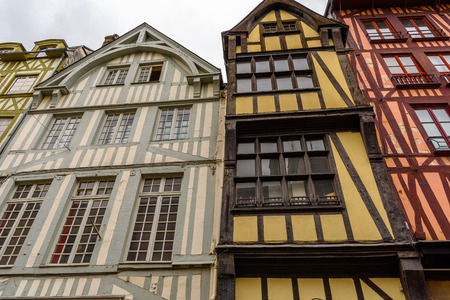 Typical house in Rouen, a city on the River Seine, Normandy, France