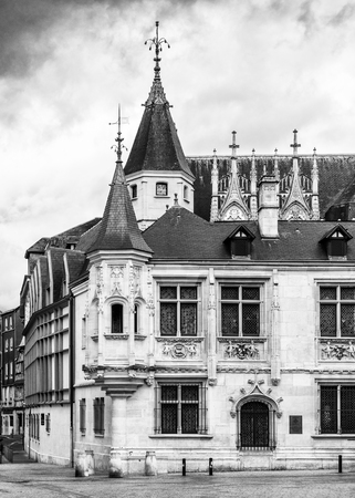 Architecture of Rouen, a city on the River Seine, Normandy, France