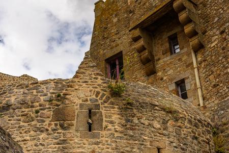 Le Mont Saint-Michel, an island commune in Normandy, France. UNESCO World Heritage