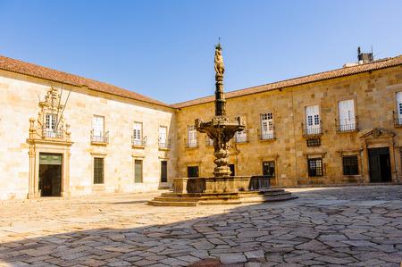 Architecture of the historic part of Braga, Portugal. Editorial