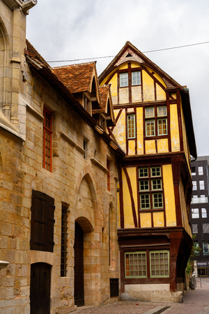 Houses in Rouen, a city on the River Seine, Normandy, France
