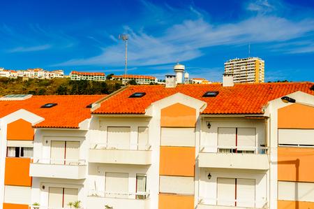 Architecture of the Coast of Nazare, Portugal. Editorial