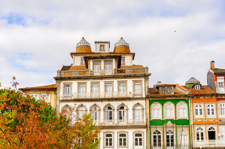 Architecture of the  Toural square of Historic Centre of Guimaraes, Portugal. Editorial