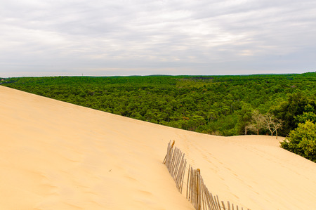 Beautiful view of the Dune of Pilat (Grande Dune du Pilat), the tallest sand dune in Europe.