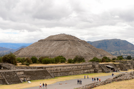 Sun Pyramid of Teotihuacan, was an ancient Mesoamerican city. UNESCO World Heritage Editorial