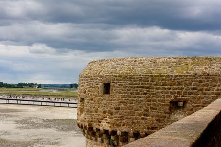 Part of the Mont Saint-Michel, an island commune in Normandy, France. UNESCO World Heritage