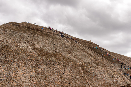 Sun Pyramid (Piramide del Sol) of Teotihuacan, it was an ancient Mesoamerican city. Stock Photo