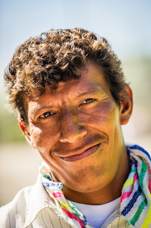 MANAGUA, NICARAGUA - JAN 6, 2012: Unidentified Nicaraguan man smiles for the camera. 69% of Nicaranguan people belong to the Mestizo ethnic group