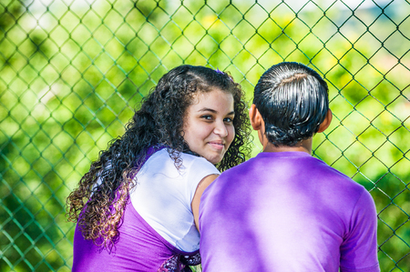 MANAGUA, NICARAGUA - JAN 6, 2012: Unidentified Nicaraguan couple in love. 69% of Nicaranguan people belong to the Mestizo ethnic group