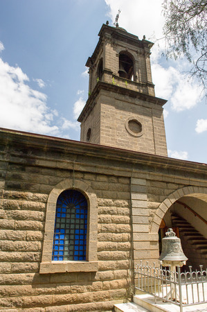 ADDIS ABABA, ETHIOPIA - SEP 29, 2011: St. Georges Cathedral, Addis Ababa, Ethiopia. One of the places of interest in the city