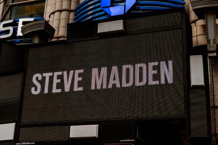 NEW YORK, USA - SEP 16, 2017: Steve Madden billboard of Manhattan, New York City, United States of America