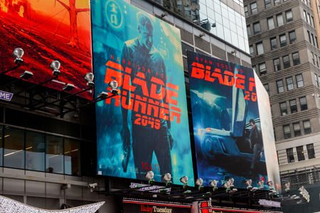 NEW YORK, USA - SEP 16, 2017: Blade runner film poster,  Manhattan, New York City, United States of America Éditoriale