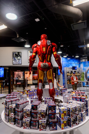 LAS VEGAS, NV, USA - SEP 20, 2017: Iron Man at the Avengers experience complex in Las Vegas.