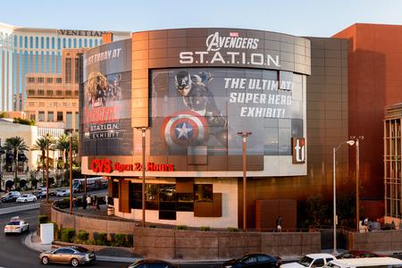 LAS VEGAS, NV, USA - SEP 20, 2017: Avengers Station complex in Las Vegas.