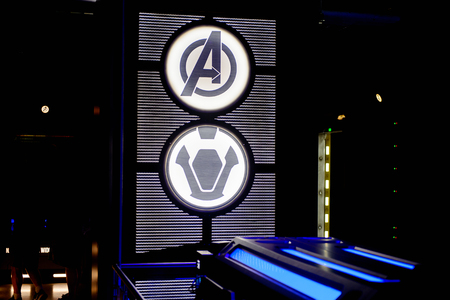 LAS VEGAS, NV, USA - SEP 20, 2017: Room of the creation of Vision at the Avengers Station complex in Las Vegas.
