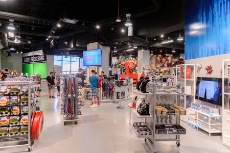 LAS VEGAS, NV, USA - SEP 20, 2017: Shop at the Avengers Station complex in Las Vegas.