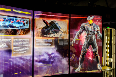 LAS VEGAS, NV, USA - SEP 20, 2017: Thor room at the Avengers Station complex in Las Vegas.