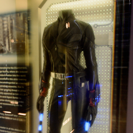 LAS VEGAS, NV, USA - SEP 20, 2017: Black Widow costume at the Avengers Station complex in Las Vegas.
