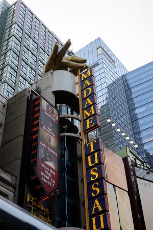 NEW YORK, USA - SEP 16, 2017: Madame Tussauds museum, Manhattan, New York City, United States of America 에디토리얼