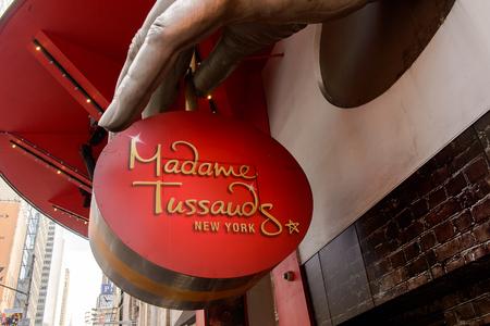 NEW YORK, USA - SEP 16, 2017: Madame Tussauds museum, Manhattan, New York City, United States of America Editorial