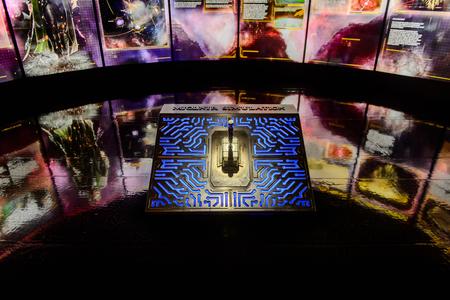 LAS VEGAS, NV, USA - SEP 20, 2017: Mjolnir a the Avengers Station complex in Las Vegas.