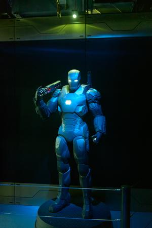 LAS VEGAS, NV, USA - SEP 20, 2017: War Machine at Tony Stark base at the Avengers experience in Las Vegas. Sajtókép