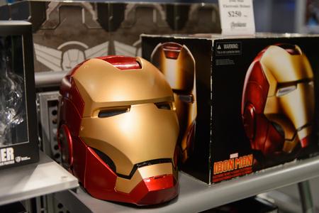 LAS VEGAS, NV, USA - SEP 20, 2017: Iron Man helmet at the Avengers experience complex in Las Vegas.