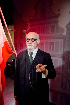 VIENNA, AUSTRIA - OCT 4, 2017: Karl Renner, an Austrian politician of the Socialist Party, Madame Tussauds wax museum in Vienna. Editöryel