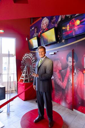 VIENNA, AUSTRIA - OCT 4, 2017: Arnold Schwarzenegger, Austrian actor, former California governor,  Madame Tussauds wax museum in Vienna. Editorial