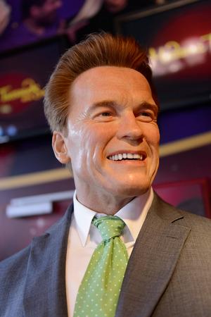 VIENNA, AUSTRIA - OCT 4, 2017: Arnold Schwarzenegger, Austrian actor, former California governor,  Madame Tussauds wax museum in Vienna. Sajtókép