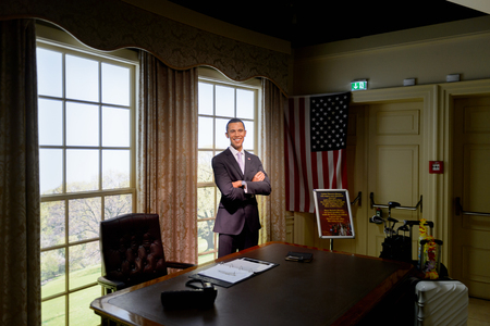 VIENNA, AUSTRIA - OCT 4, 2017: Barack Obama, the former US president, Madame Tussauds wax museum in Vienna. Editorial