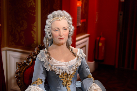 VIENNA, AUSTRIA - OCT 4, 2017: Maria Theresia, Madame Tussauds wax museum in Vienna.
