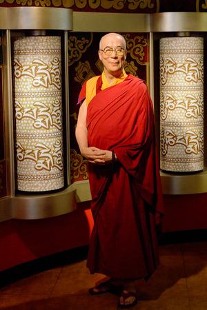 VIENNA, AUSTRIA - OCT 4, 2017: Dalai Lama, Madame Tussauds wax museum in Vienna. Stock fotó - 114036676