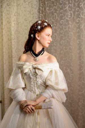 VIENNA, AUSTRIA - OCT 4, 2017:  Elisabeth in Bavaria (Sisi) , Empress of Austria and Queen of Hungary, Madame Tussauds wax museum in Vienna.