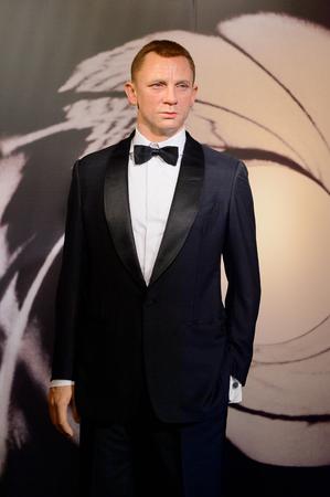 VIENNA, AUSTRIA - OCT 4, 2017: Daniel Craig as Agent 007 James Bond, Madame Tussauds wax museum in Vienna.