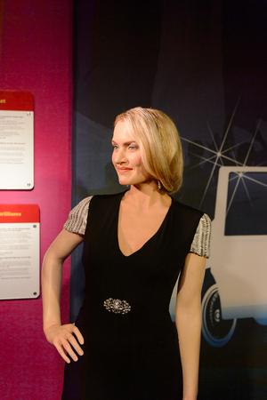 VIENNA, AUSTRIA - OCT 4, 2017: Kate Winslet, an English actress, Madame Tussauds wax museum in Vienna.