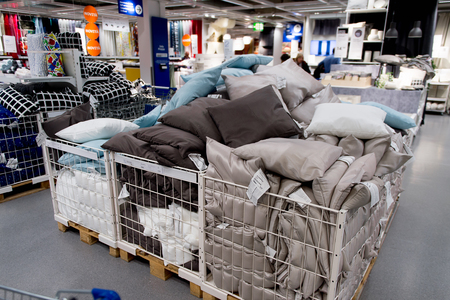 LUGANO, SWITZERLAND -NOV 4, 2017: Interior of the IKEA shop in Lugano, Switzerland. The company was found in Sweden in 1943 Editorial