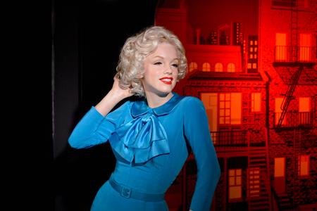 VIENNA, AUSTRIA - OCT 4, 2017: Marilyn Monroe, an American actress and model, Madame Tussauds wax museum in Vienna. Redakční