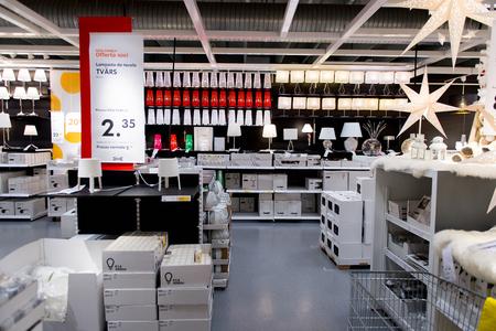 LUGANO, SWITZERLAND -NOV 4, 2017: Interior of the IKEA shop in Lugano, Switzerland. The company was found in Sweden in 1943 Redactioneel