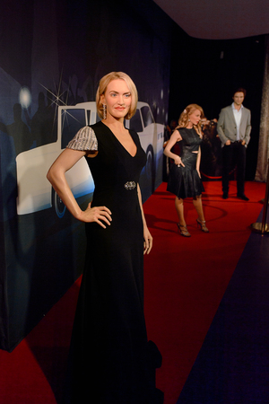 VIENNA, AUSTRIA - OCT 4, 2017: Kate Winslet, an English actress, Madame Tussauds wax museum in Vienna. Stock Photo - 113979938