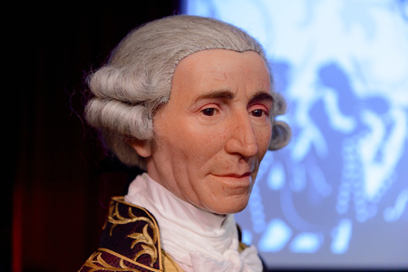 VIENNA, AUSTRIA - OCT 4, 2017: Joseph Haydn, an Austrian composer of the Classical period, Madame Tussauds wax museum in Vienna.