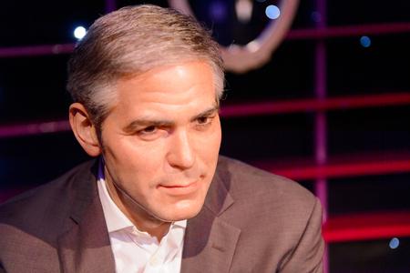 VIENNA, AUSTRIA - OCT 4, 2017: George Clooney, American actor, Madame Tussauds wax museum in Vienna.