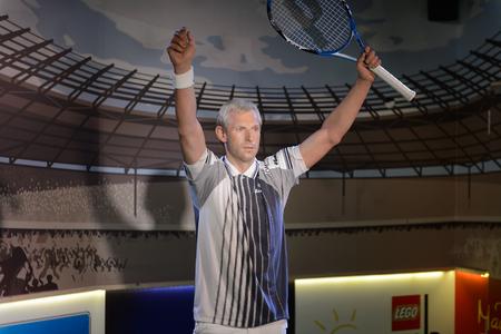 VIENNA, AUSTRIA - OCT 4, 2017: Thomas Muster, a former World No. 1 tennis player, Madame Tussauds wax museum in Vienna.